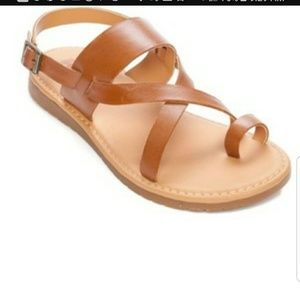 ❤ SALE Kork-Ease Tan Cheri TOE Ring Sandals